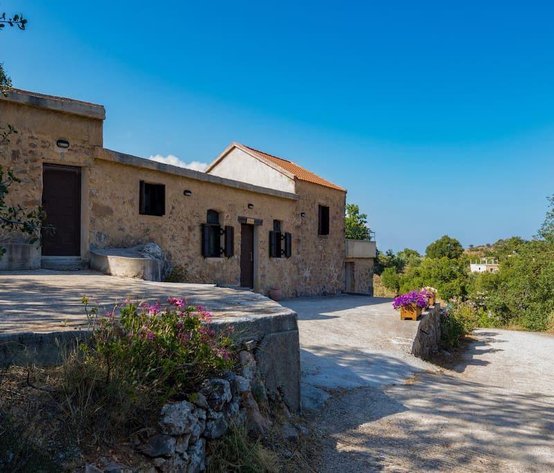 about cretan stone villa